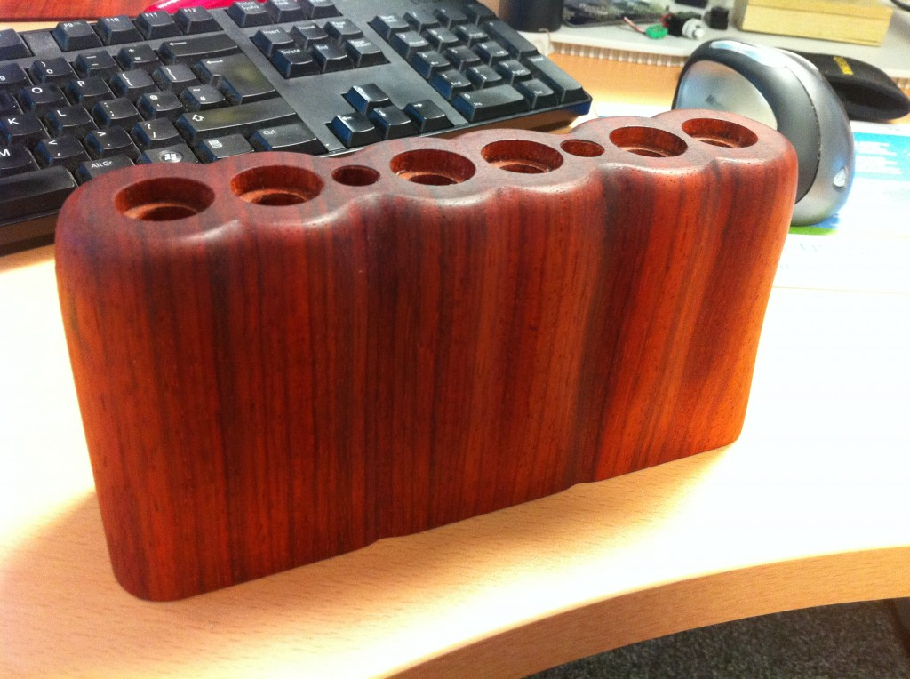 Natural oiled padauk, CNC machined and hand finished