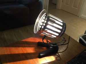 A lamp made from a cafetiere