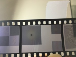 Zone plate on 35mm film